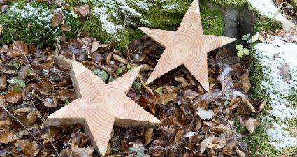 Ainulaadsed puidust tehtud kingitused: Puidust tähed