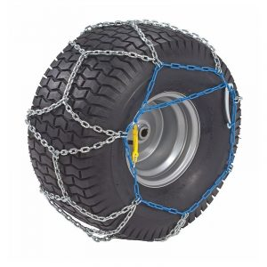 Snow chains for lawn tractor