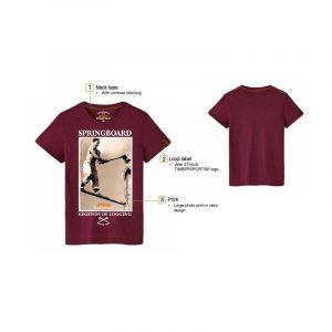 T-särk Retro veinipunane Timbersports
