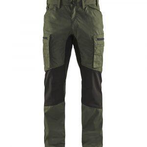 Stretch püksid tume oliiviroheline
