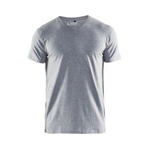 T-särk V-kaelusega hall