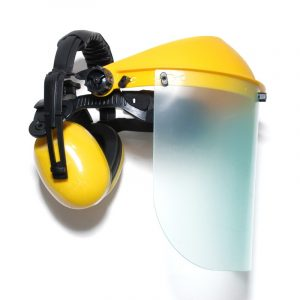 Kaitsevisiir poly klaasiga, eemaldatavate kõrvaklappidega