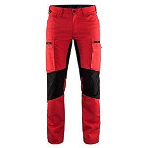 Stretch püksid punane/must